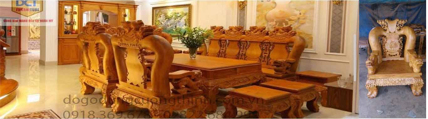salon gỗ gõ đỏ